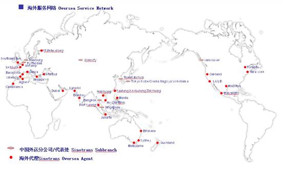 业务全中国的地图